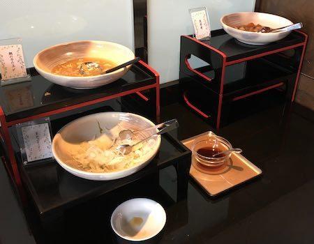 ザ・ダイニング万彩 朝食ブッフェ 和風の惣菜