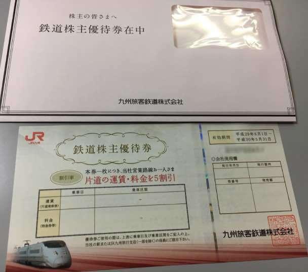 九州旅客鉄道の株主優待