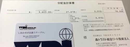 森トラスト総合リート投資法人 第30期分配金
