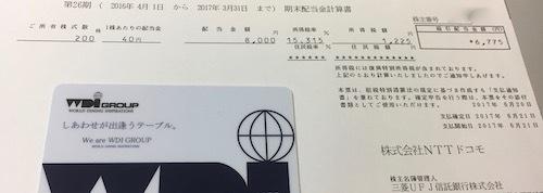 NTTドコモ 2017年3月期 期末配当金