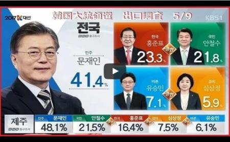 【動画】韓国大統領選 革新系「共に民主党」文在寅 ムン・ジェイン の勝利宣言 当確 第一声 [嫌韓ちゃんねる ~日本の未来のために~ 記事No15938