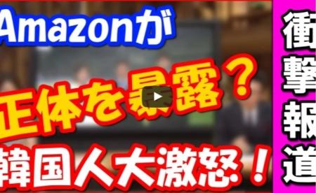 【動画】Amazonが「韓国の正体を暴露ww」韓国人大激怒!!⇒ 韓国に正面から喧嘩を吹っかけるwww [嫌韓ちゃんねる ~日本の未来のために~ 記事No16089
