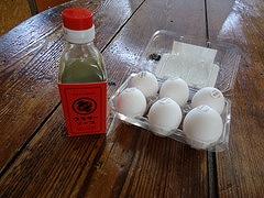 ウスターと卵