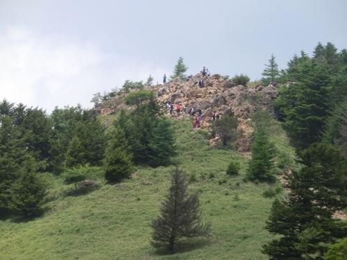 介山荘から賽の河原