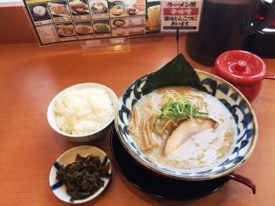 170208拉麺しるし鍛治町店醤油とんこつラーメン740円