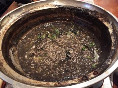 170222暁黒鍋の〆のリゾット