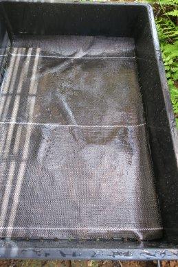 底敷きシート洗浄