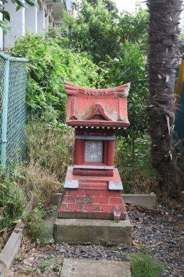 飯山満川沿いにあった水神