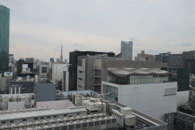 東京タワー&虎の門ヒルズを望む