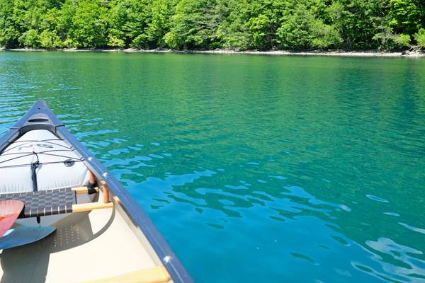 新緑の支笏湖の蒼さ04