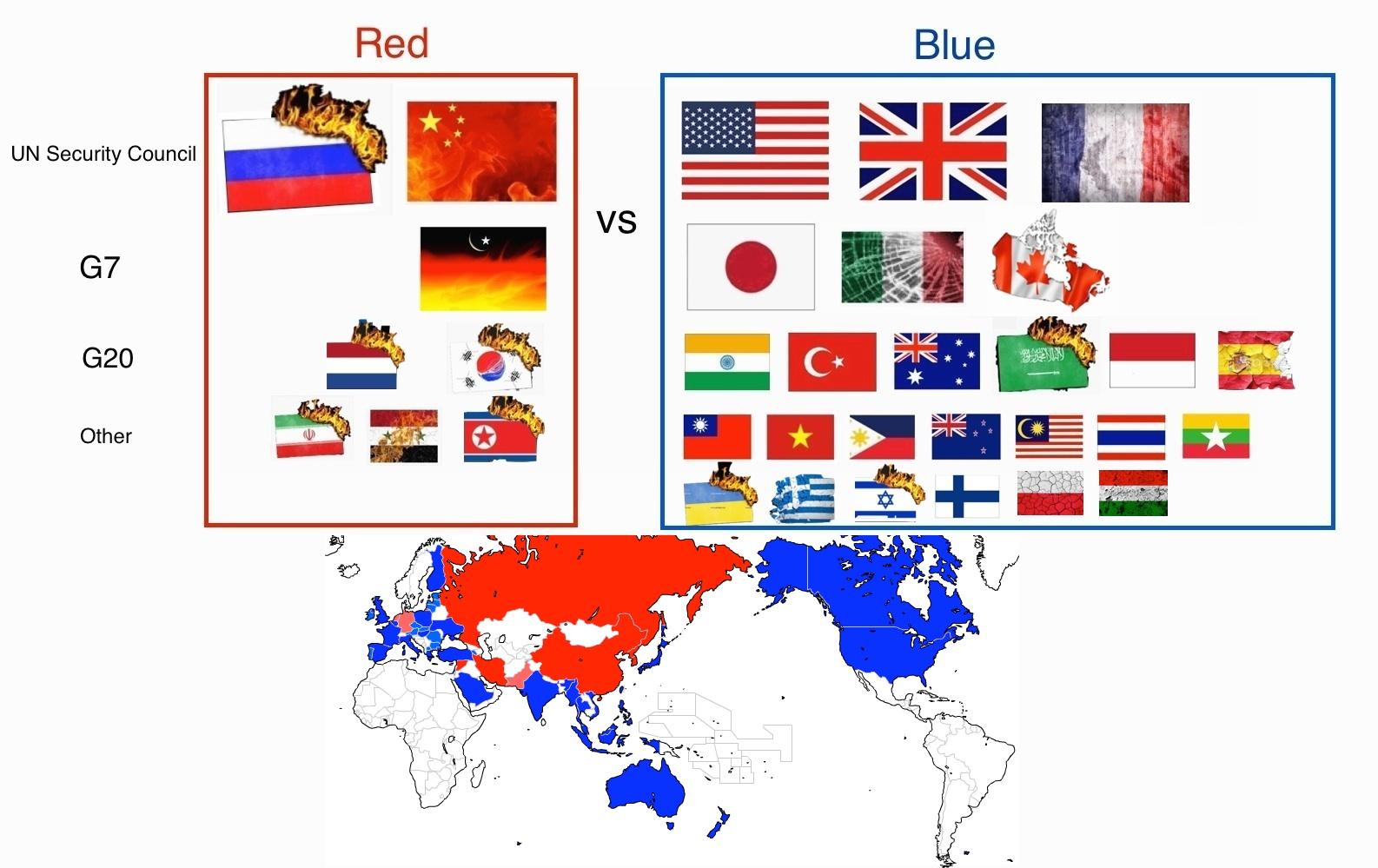 アカ対アカ以外の国