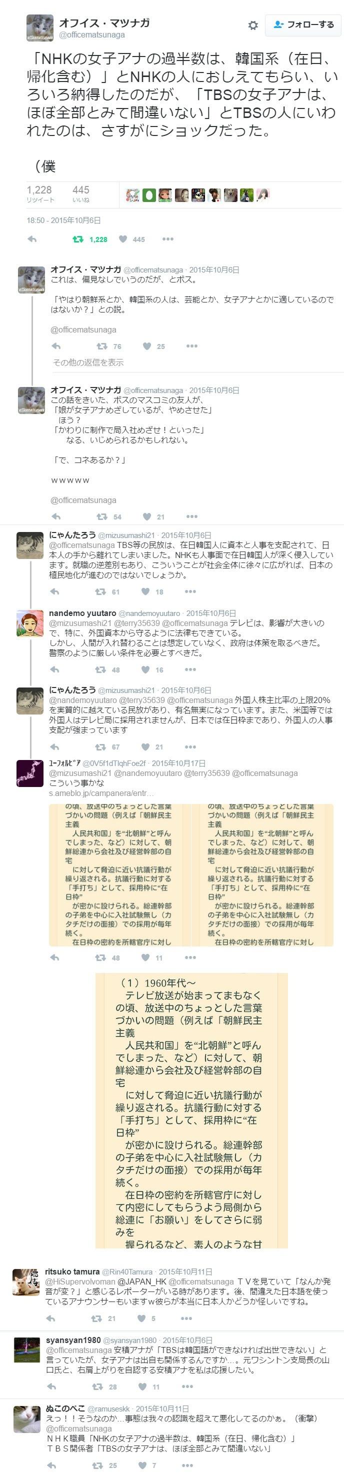 NHK女子アナの過半数は在日朝鮮人