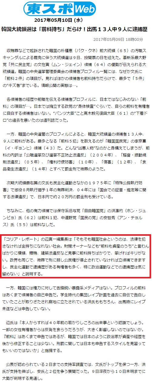 韓国大統領選は「前科持ち」だらけ!出馬13人中9人に逮捕歴