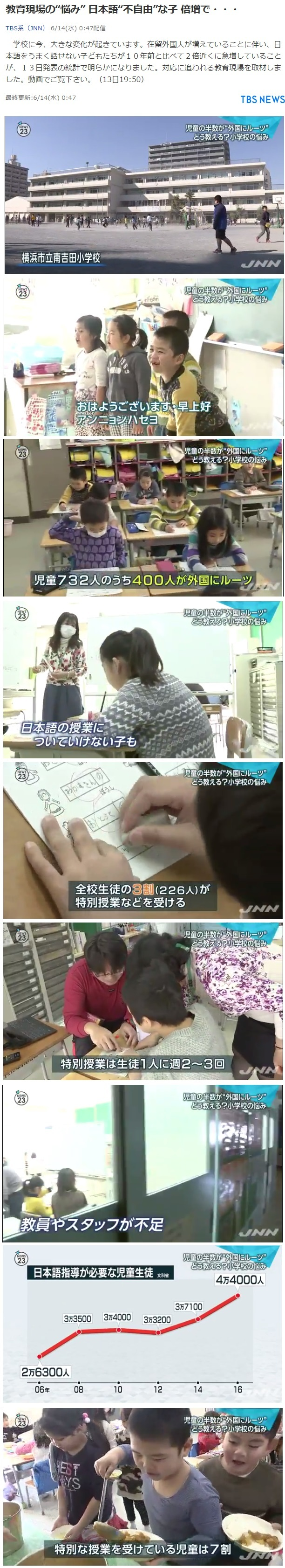 日本の学校に通う日本語が出来ない外国人の子供に振り回される教育現場1