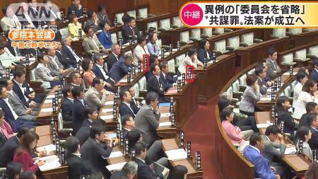 参院国会、野党席側の画像と座席票1