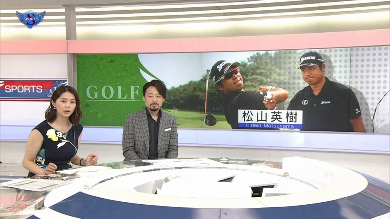 NHKで体のラインが出るワンピースを着た杉浦友紀アナの着衣巨乳