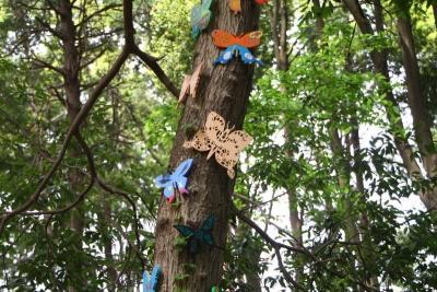 蝶の木工アートc_1
