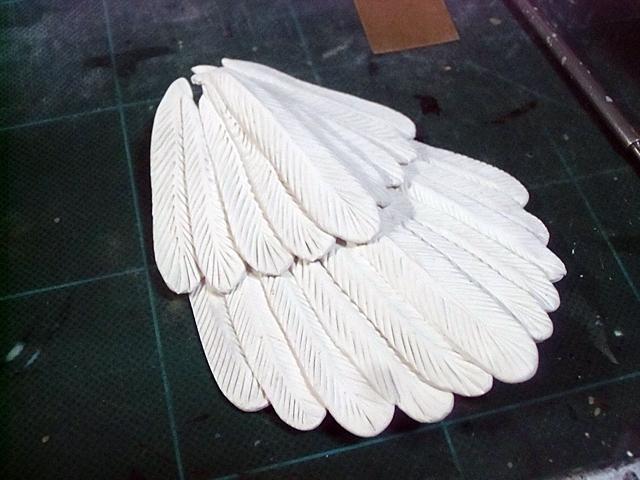 二段できた尾羽