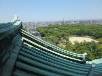 急な名古屋城の屋根
