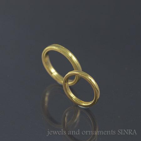 天球儀のリングとギメルリングの結婚指環