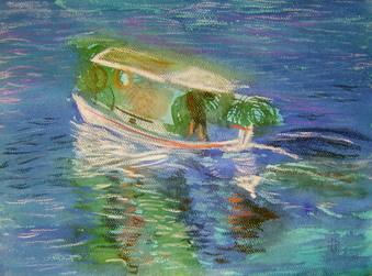 DORINA PADINEANU - Barca pescarului grec_08 23x34 pastel