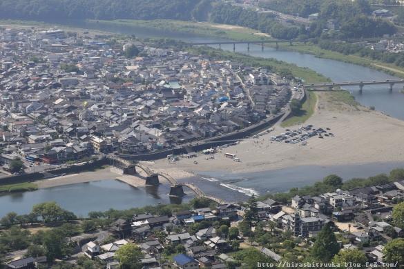 岩国城から錦帯橋ーSN