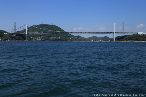 海上から関門橋ーSN