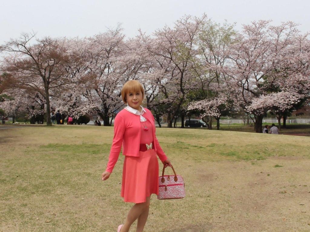 オレンジスカートカーデ桜A(4)