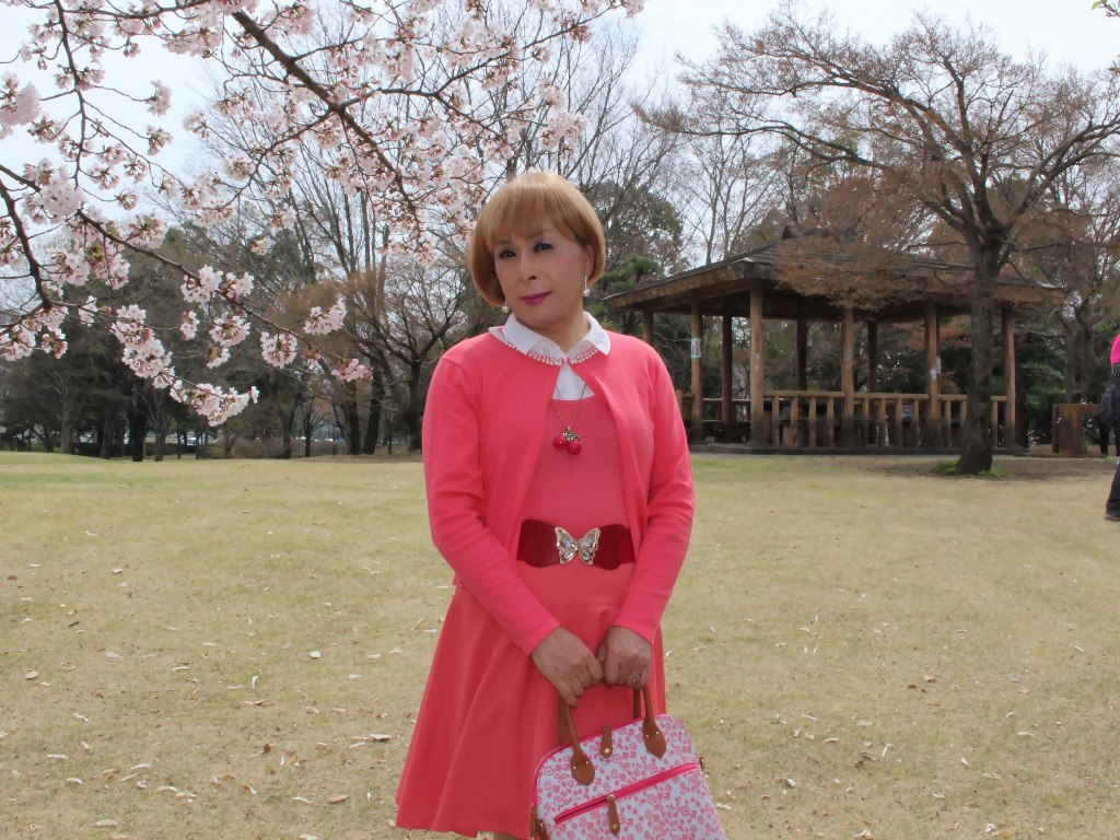 オレンジスカートカーデ桜A(6)