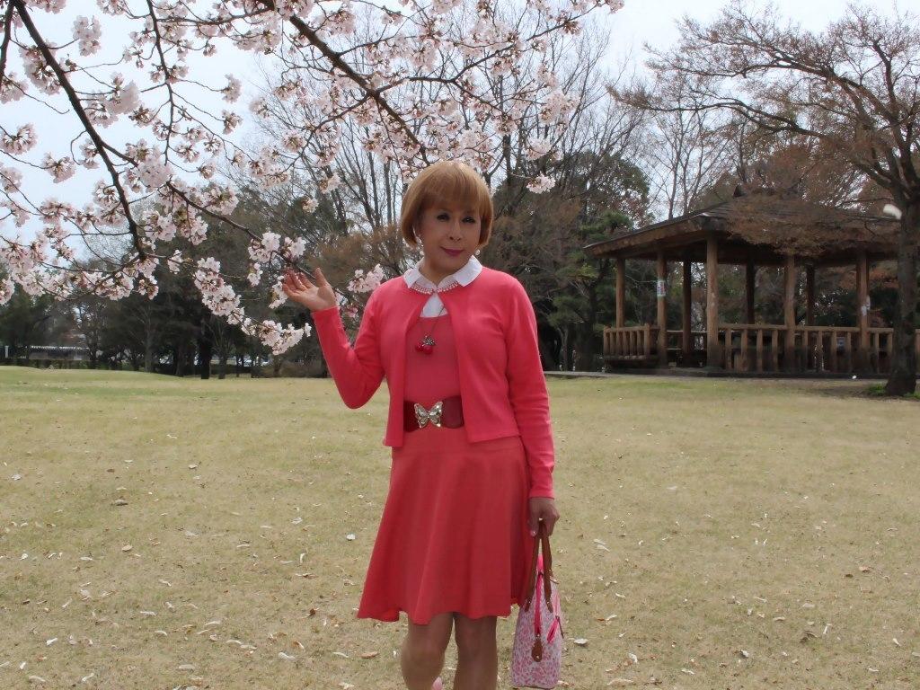 オレンジスカートカーデ桜A(7)