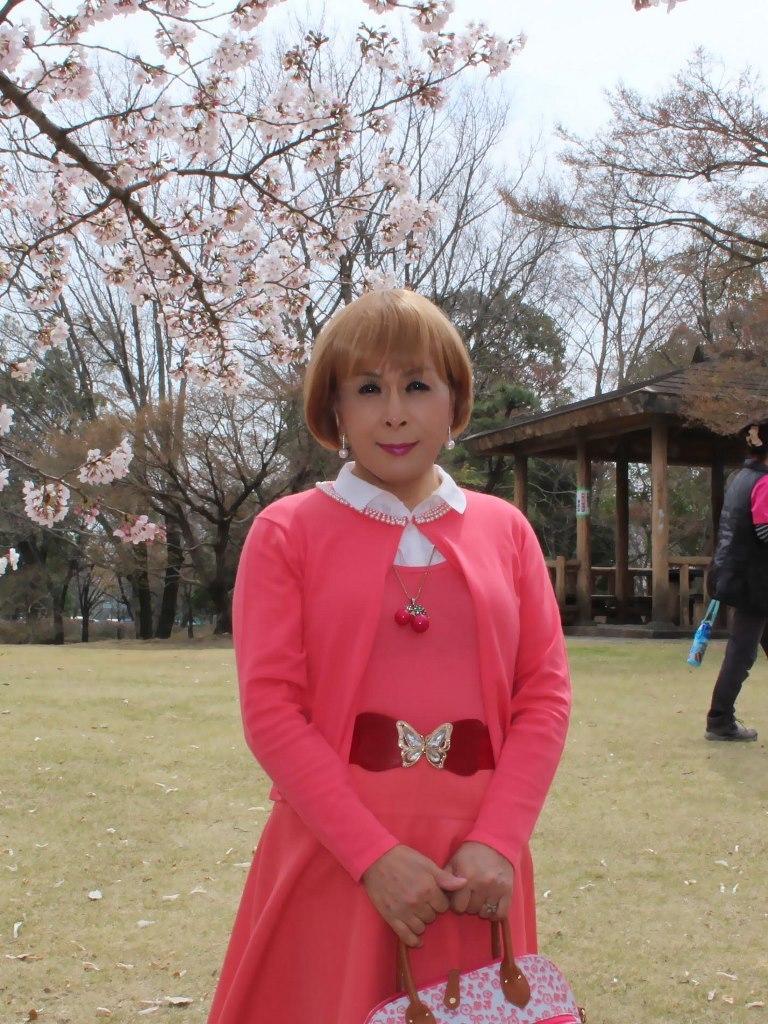 オレンジスカートカーデ桜A(5)