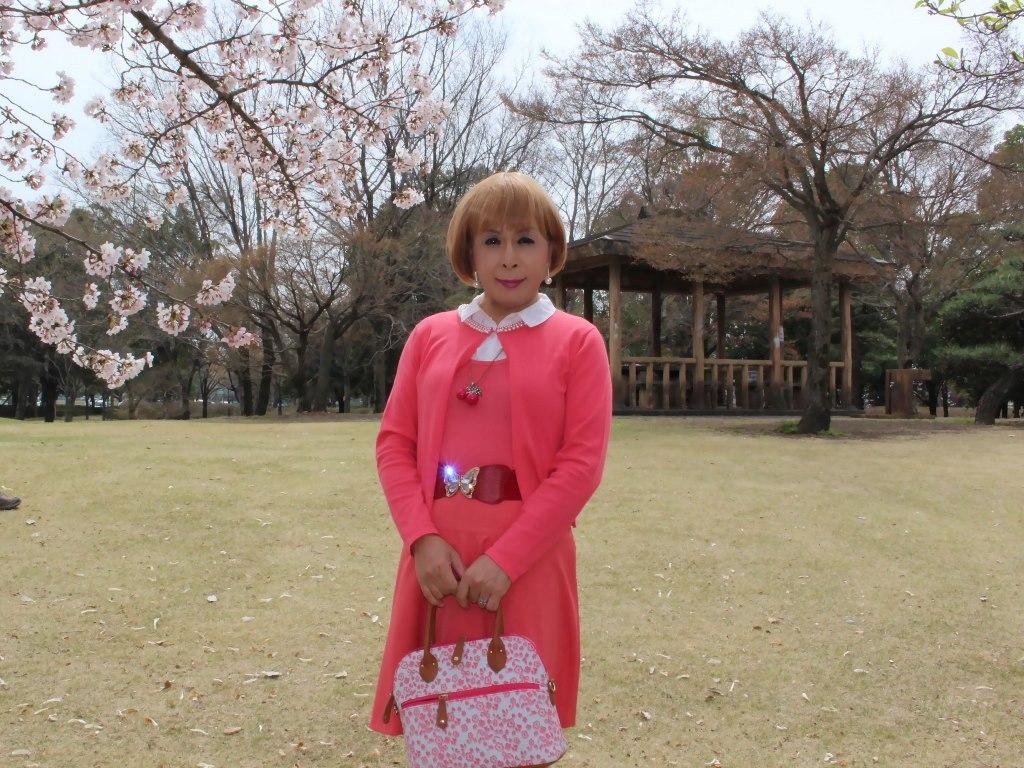 オレンジスカートカーデ桜A(8)