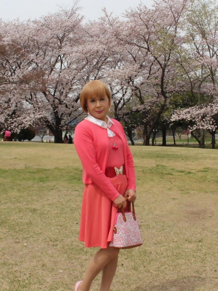 オレンジスカートカーデ桜A(1)