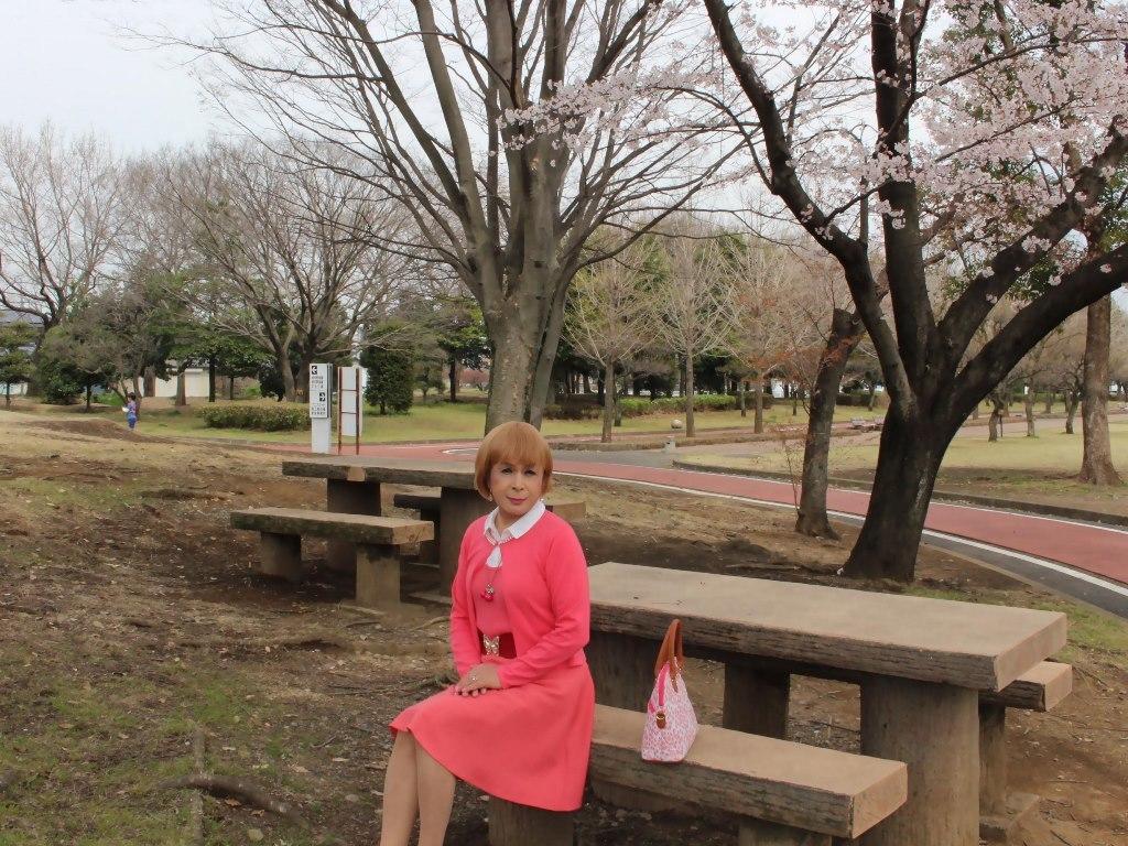 オレンジスカートカーデ桜B(3)