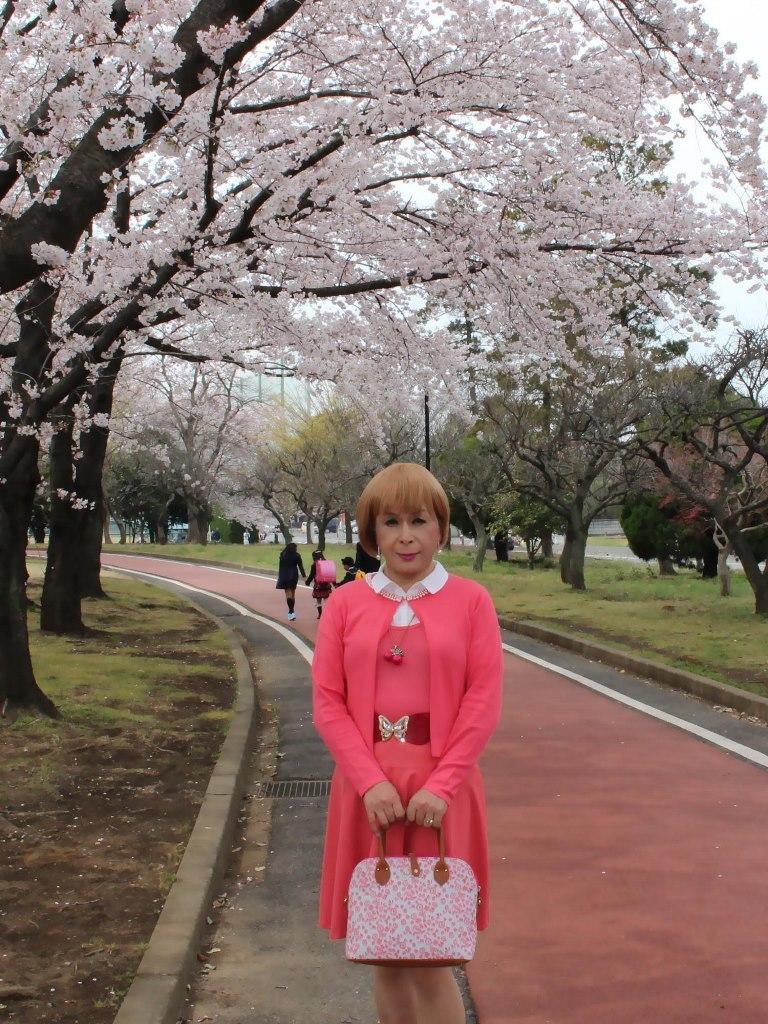 オレンジスカートカーデ桜B(6)