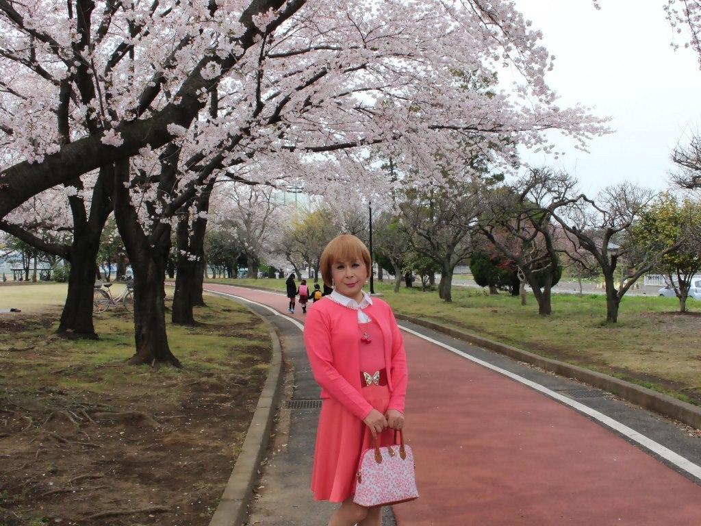 オレンジスカートカーデ桜B(7)