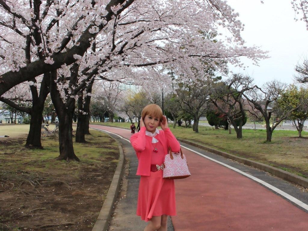 オレンジスカートカーデ桜B(8)