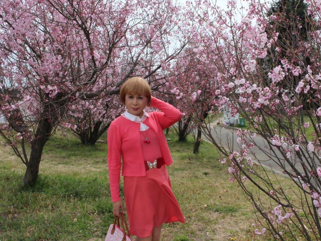 オレンジスカートカーデ桜C(5)