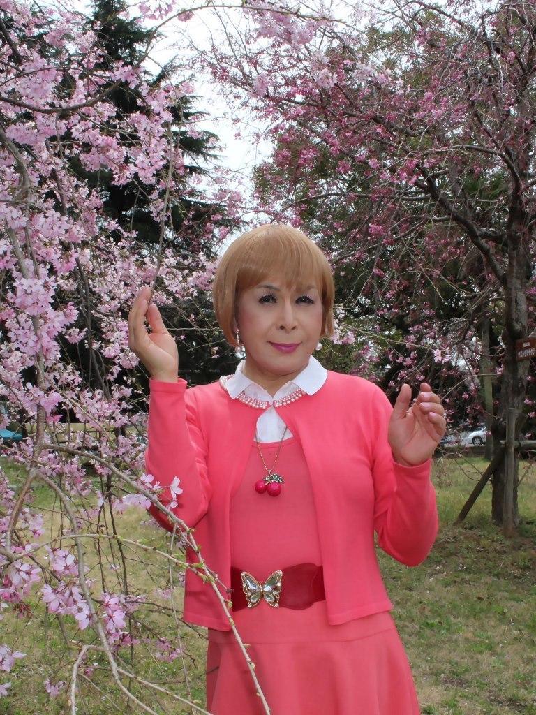 オレンジスカートカーデ桜C(6)