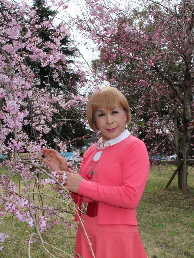 オレンジスカートカーデ桜C(8)