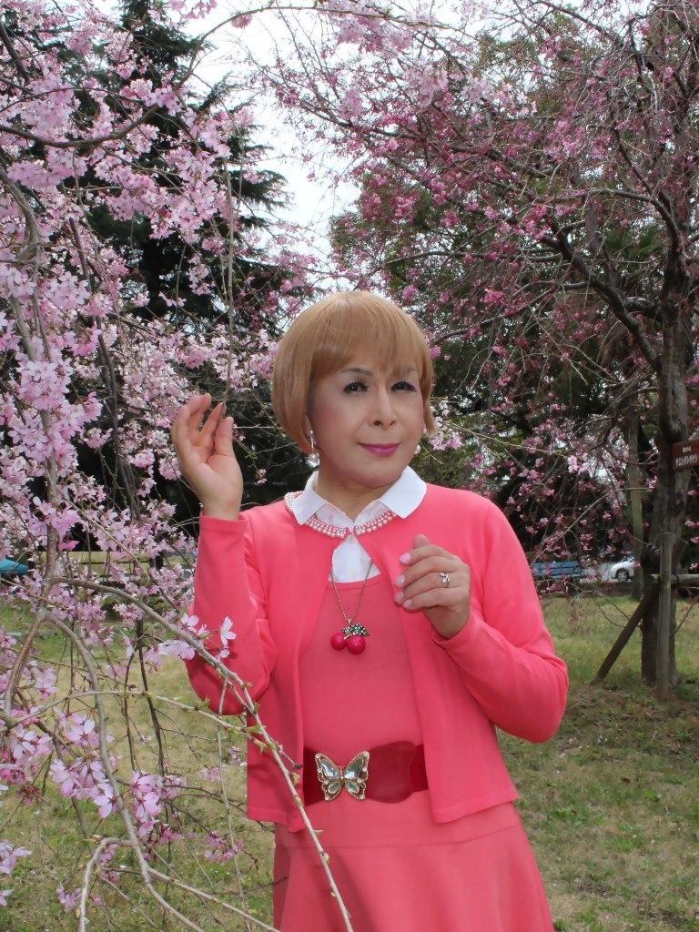 オレンジスカートカーデ桜C(7)