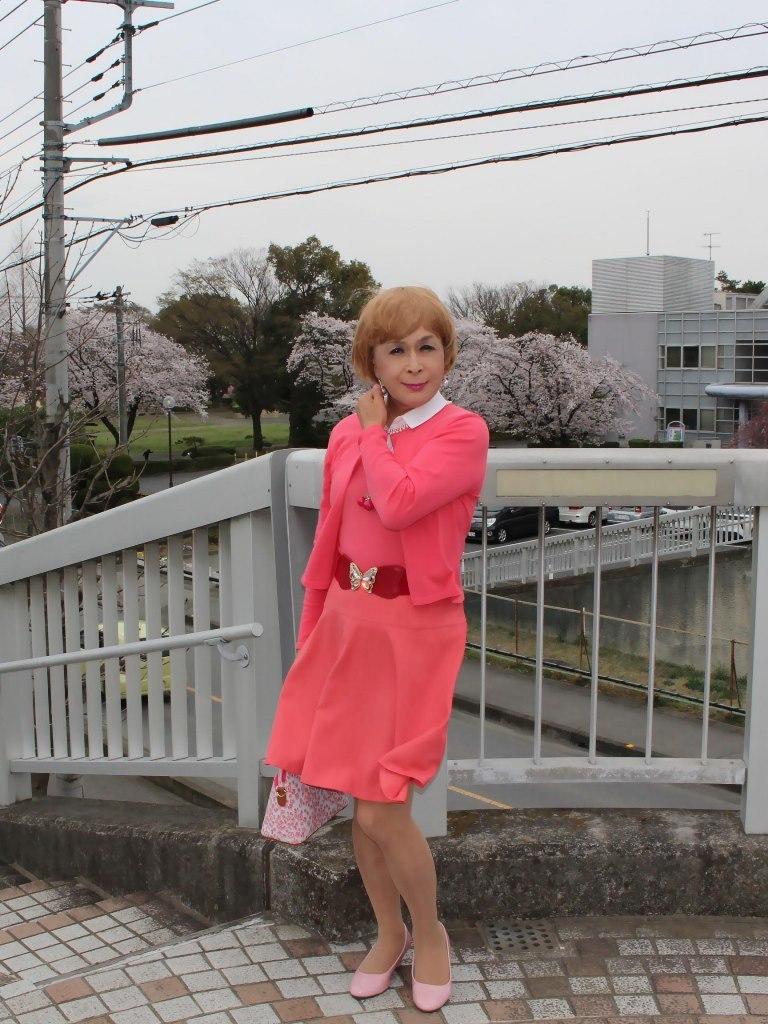 オレンジスカートカーデ桜D(7)