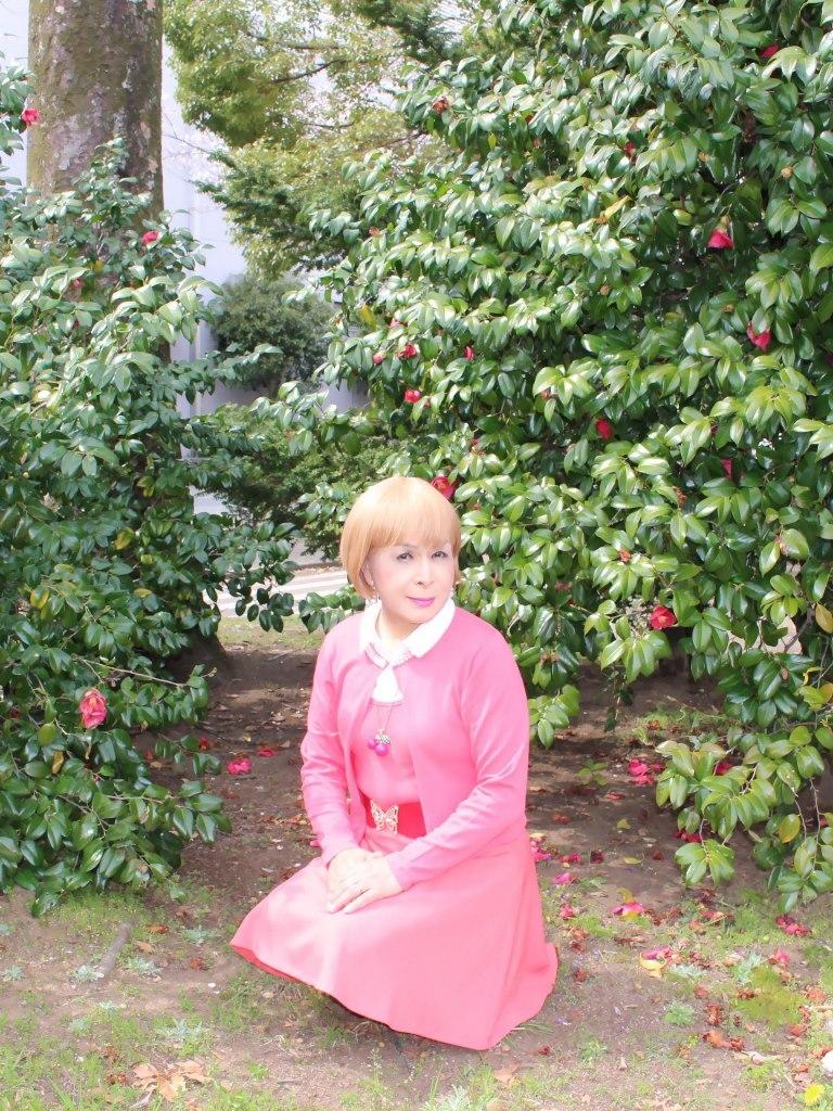 オレンジスカートカーデ桜D(1)