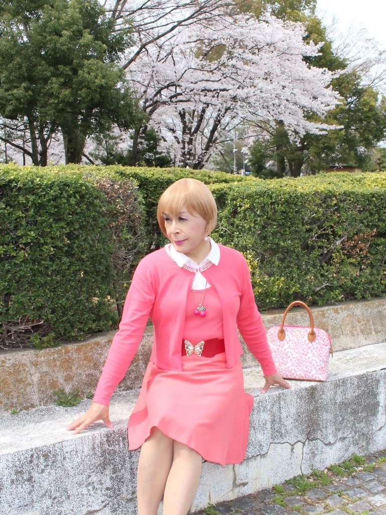 オレンジスカートカーデ桜E(1)