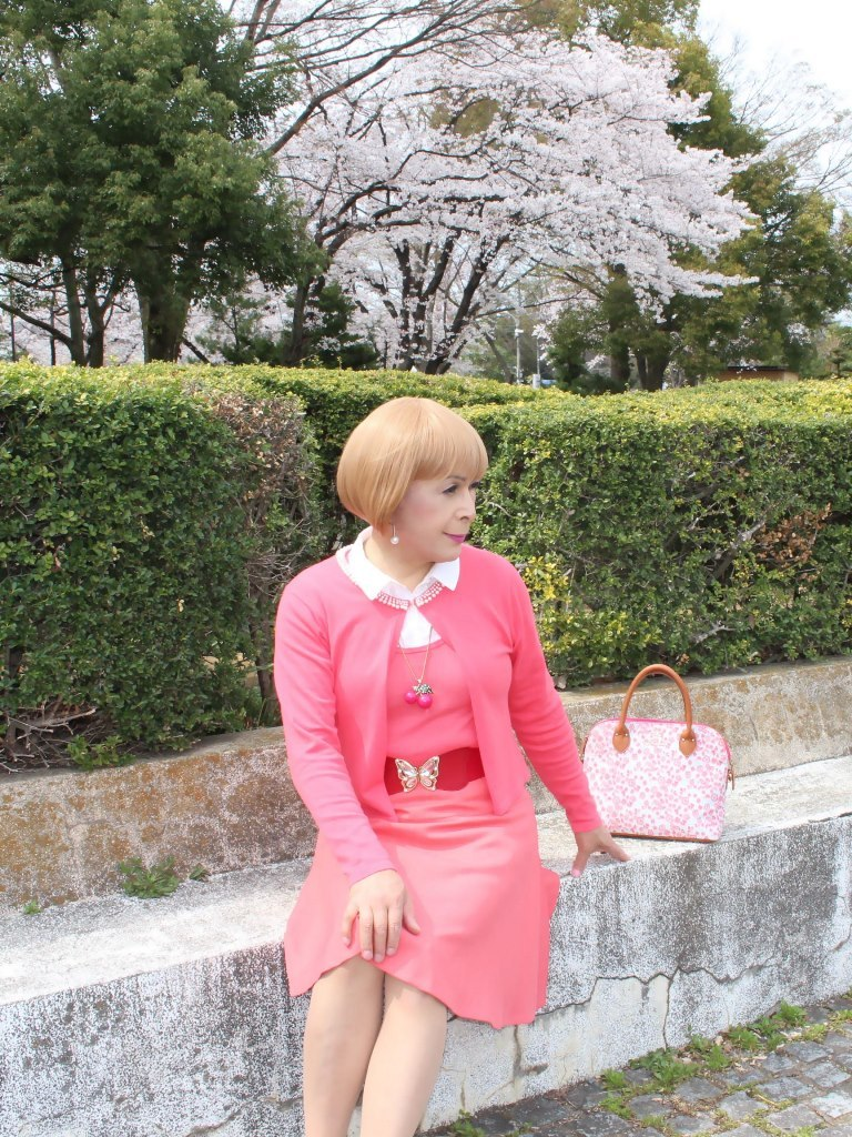 オレンジスカートカーデ桜E(2)