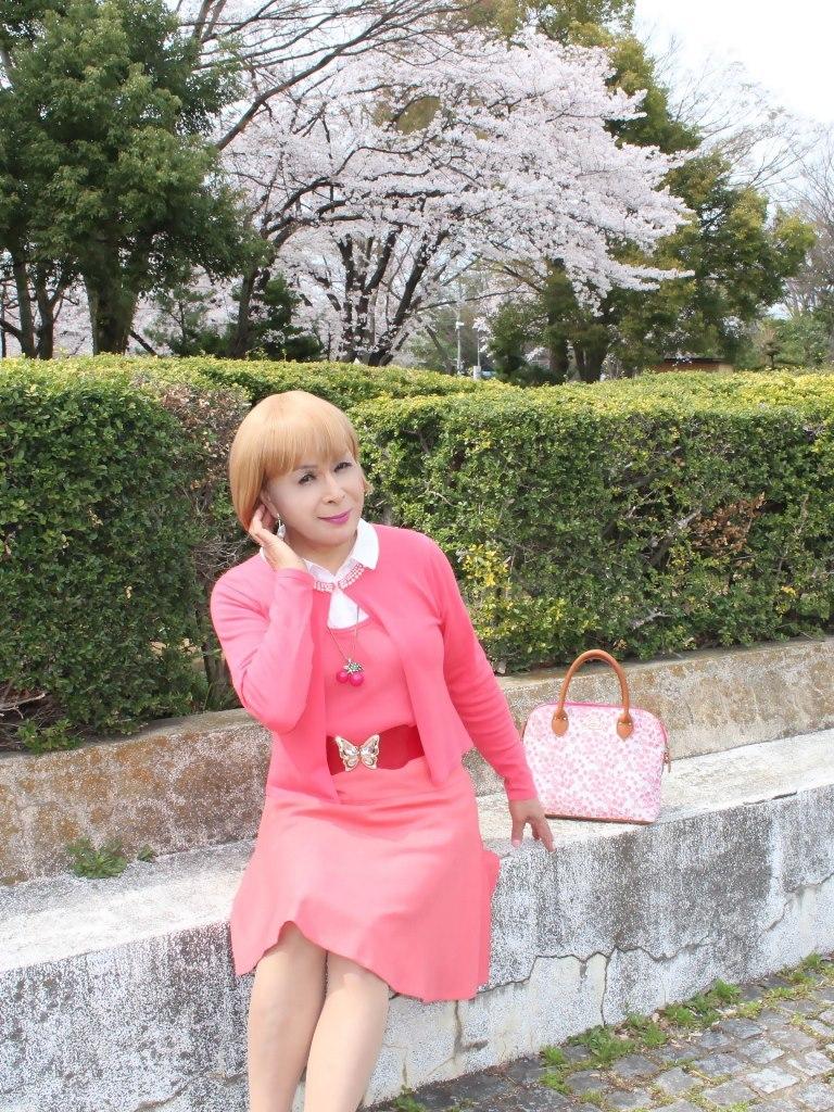 オレンジスカートカーデ桜E(3)