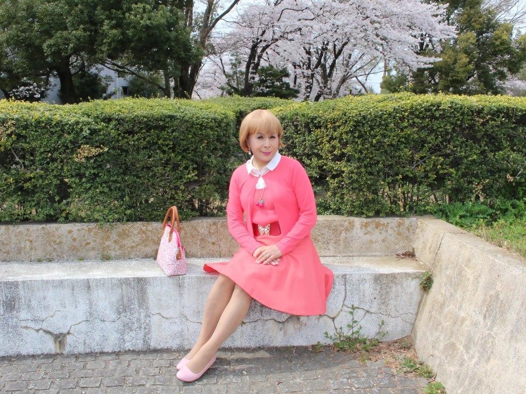 オレンジスカートカーデ桜E(6)