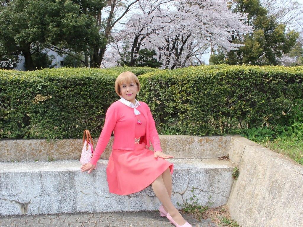 オレンジスカートカーデ桜E(8)