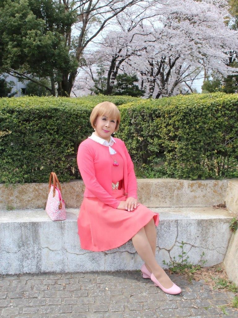 オレンジスカートカーデ桜E(4)
