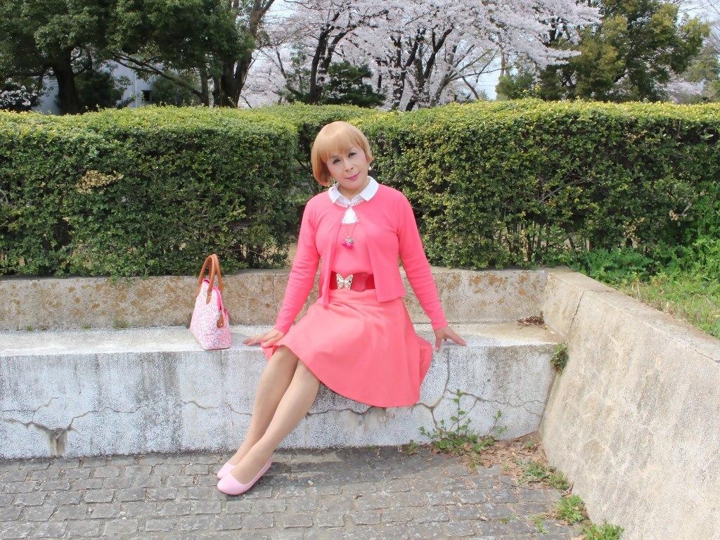 オレンジスカートカーデ桜E(5)